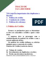6A Administração de Duplicatas a Receber II