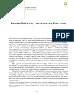 Racionalidade Limitada - Instituições e Incerteza