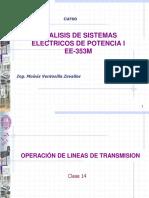OPERACIÓN DE LINEAS DE TRANSMISIÓN