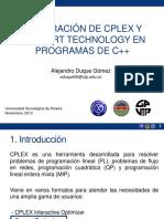 Integracion CPLEX CONCERT TECHNOLOGY