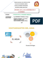 Diapositivas Contaminantes Del Agua Agua Subterranea y Acuiferos