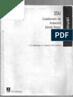 Manual STAI - Cuestionario ansiedad estado rasgo