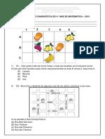 Diagnóstica Matemática - 4º Ano