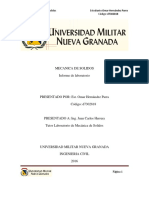 Laboratorio Mecanica de Solidos - Omar Hernandez Parra