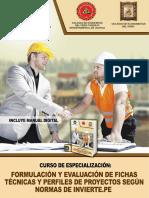 Brochure Ft Curso de Especialización Formulación de Perfiles de Inversión y Fichas Técnicas Segun Las Normas de Invierte.pe 1