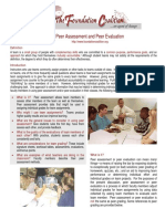 peer assessment and peer evaluation