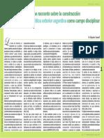 Brevísimo Racconto Sobre La Construcción de La Política Exterior Argentina Como Campo Disciplinar