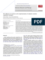 The Influence of Context on the Implementation of Adaptive Emotion Regulation Strategies