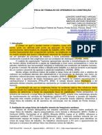 Carga Física_metabólica de Trabalho e Frequência Cardíaca