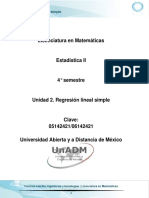 Unidad 2. Regresion Lineal Simple