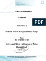 Unidad 3. Analisis de Regresion Lineal Multiple