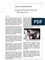Chennai Statement on Up-Scaling Pro-poor ICT Policies and Practices