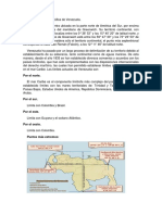 Ubicación Geográfica de Venezuela Trabajo de Vias I Para El Martes