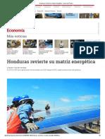 Honduras Revierte Su Matriz Energética - Diario La Prensa