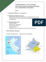 Informe de Camino Vecinal Pacora