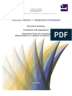 Coso Internal Control - Integrated Framework Executive Summary, Framework and Appendices, And Illustrative Tools for Assessing Effectiveness of a System of Internal Control