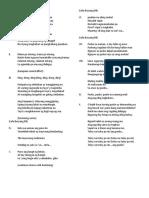 St Mark Song Lyrics for Christmas Presentation 2015
