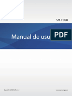 Manual Tablet Samsung Galaxy Tab s 10.5 - Sm t800
