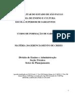 Gerenciamento de Crises-PMESP