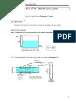 P 04 - Hidr I Calibração de Med. de Vazão