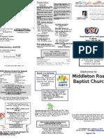Church Bulletin 8-8
