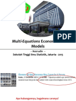 09 Multi-Equations Econometrics Model