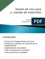 Clase 06 Fragmentacion de Roca Para El Manejo de Materiales11111111111