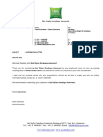Confirmation Letter Reuni Sma Negeri 3