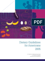 Dietary Guidelines for America 2005