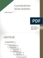 Perawatan Prostodonsia Pada Penderita Diabetes Melitus