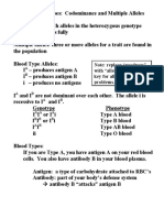 Blood Types Through Environmental Effects