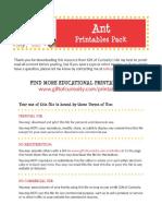 Ant Printables Pack