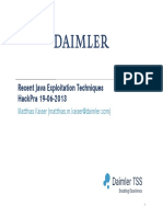 Recent Java Exploitation Techniques RUB (1)