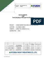 Data Sheet - Tank Gauging System