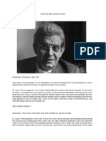 L'Express - Interview With Jacques Lacan