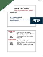 ETE 507 CSE515 -Class 1 - Introduction