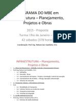 Programa Infraestrutura - Projetos e Obras 2