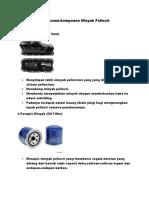 Komponen-komponen Minyak Pelincir