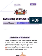 Evaluating Your Own Teaching by Dr. Shadia Yousef Banjar