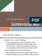 Supervisor Mep