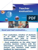 Evaluation and Testing Teacher Evaluation