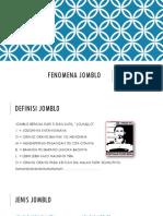 FENOMENA jomblo
