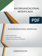 Plan Organizacional Modificada