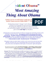 The Most Amazing Thing Read About Obama