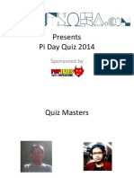 Gonit Sora Pi Day Quiz 2014
