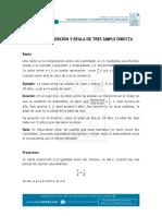 Documento_Razón, Proporción y Regla de Tres Simple Directa