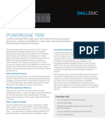 Dell PowerEdge T630 Spec Sheet