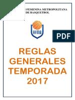 Reglas Generales Afmb 2017