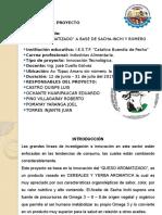 Proyecto de Queso a Base de Romero y Sacha Inchi Cuello