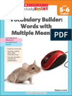 Vocabulary Builder Words With Multiple Meanings 5-6